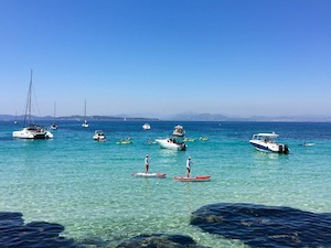 South of France Photos - Porquerolles Paddle Boarding